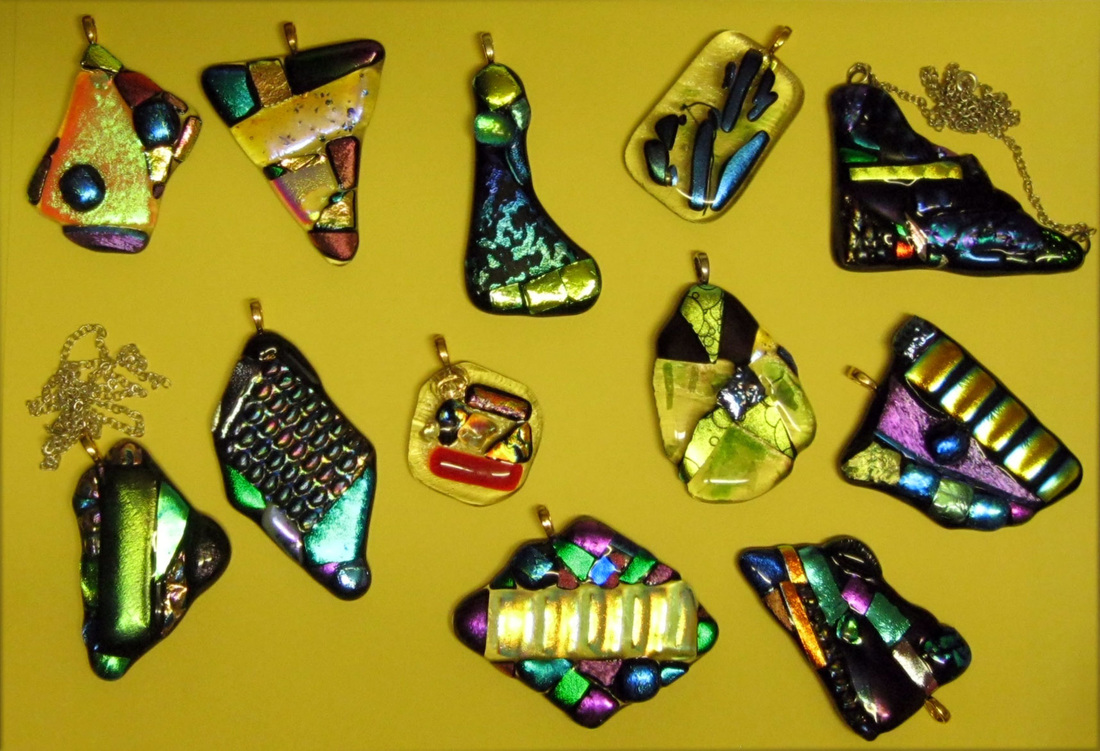 Dichroic glass pendants gails gallery dichroic glass pendants are made to match any outfit aloadofball Gallery